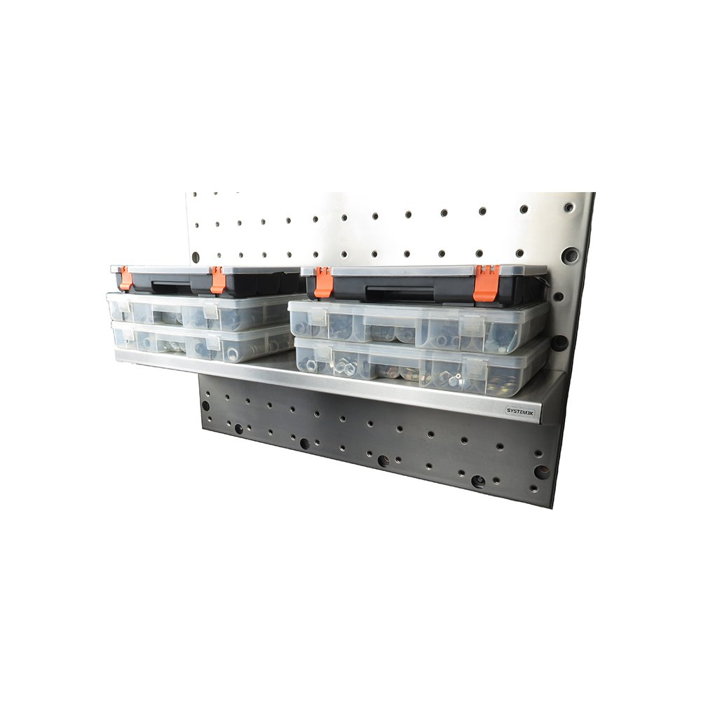 25 Inches Long by 7 Inches Wide System X SVS 352 Stainless Steel Long Shelf for Pegboard